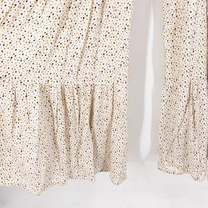 Lilyful Pants & Jumpsuits - Lilyful Jumpsuit Tie Strap Smocked Wide Leg Tiered